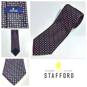 Stafford Tailored Culture Neck Tie 100% Polyester